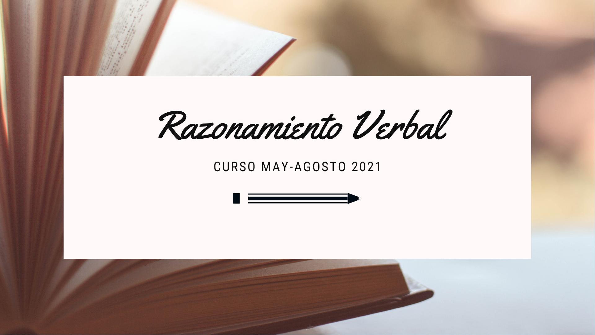 Razonamiento Verbal 2021-2 A